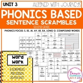 Unit 3 Phonics Based Sentence Scrambles