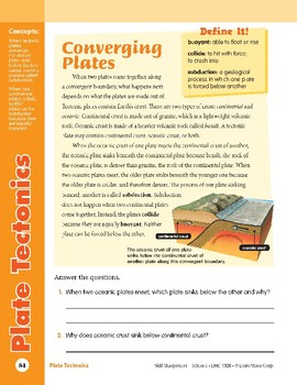Unit 3: Plate Tectonics: Concepts (Skill Sharpeners: Science)