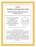 Unit 3 Problem Solving with Units (High-school Quantitative Reasoning)