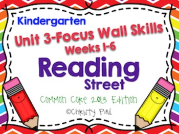 Unit 3 Reading Street Kindergarten Focus Wall
