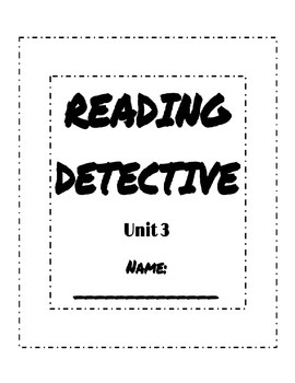 Unit 3 Reading Street Sleuth Reading Detective Booklet