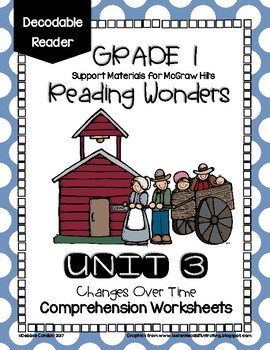 Unit 3 Wonders Decodable Reader Comprehension Worksheets for 1st Grade