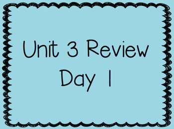Unit 3 Review 2nd Grade Reading Street Powerpoints