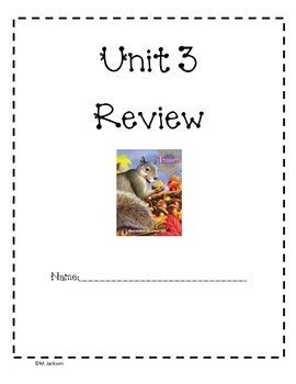 Unit 3 Review Packet for Macmillan/McGraw Hill Treasures (First Grade)