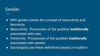Unit 3 - Sex and Gender Bundle