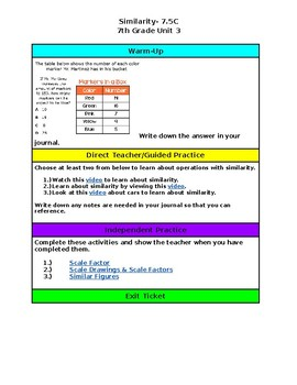 Unit 3- Similarity- 7th Grade Hyperdoc
