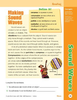 Unit 3: Sound Waves: Concepts (Skill Sharpeners: Science)