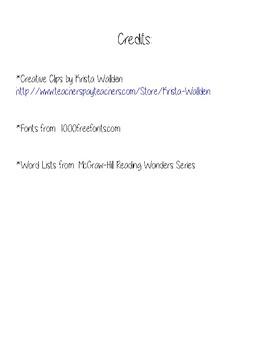 Unit 3 Spelling - Wonders Series Week 1-5