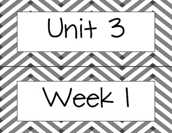 Wonders Unit 3 Spelling Word Cards