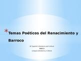 Unit 3 - Temas Poéticos de Renacimiento y Barroco - AP Spa