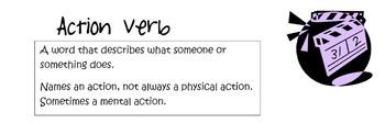 Unit 3 Verbs Interactive Grammar Notebook