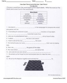 Unit 3 Vocab. Sheets for Scott Foresman® Reading 2000 series