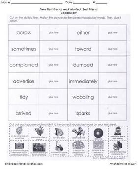 Unit 3 Vocab. Sheets for Scott Foresman® Reading 2000 series