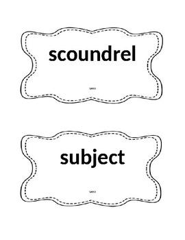 Unit 3 Vocabulary Reading Street