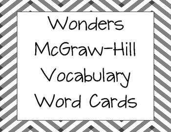 Wonders Unit 3 Vocabulary Word Cards