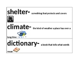 Unit 3 Vocabulary Word Wall for Communities Near and Far