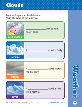Unit 3: Weather (Skill Sharpeners: Science)