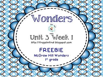 Wonders: Unit 3 Week 1 Freebie