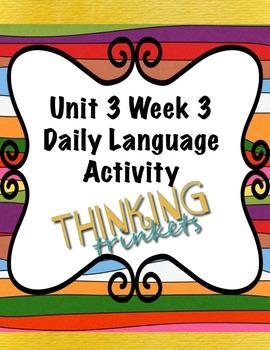 Unit 3 Week 3 Daily Language Activity