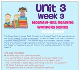 Unit 3, Week 3 Study Guide for Wonders Second Grade