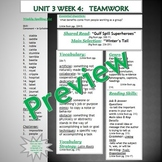 Unit 3 Week 4 Skills Guide Fifth Gr based on McGraw Hill W