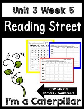 Unit 3 Week 5. I'm a Caterpillar. Reading Street. Centers/