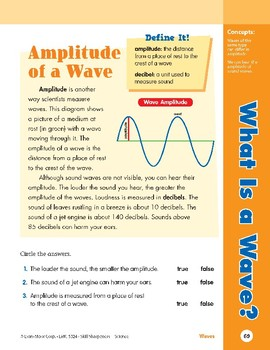 Unit 3: What Is a Wave?: Concepts (Skill Sharpeners: Science)