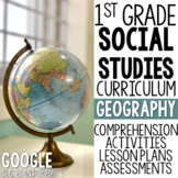 1st Grade Social Studies - Geography (MC3 Compatible)
