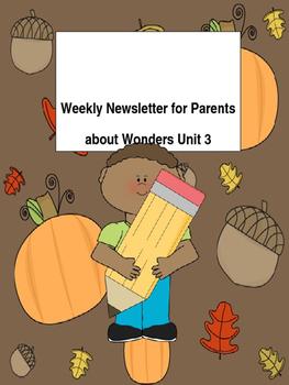 Unit 3 Wonders Weekly Newsletter