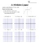 Unit 3 Worksheets (ALG 2) - All about Functions