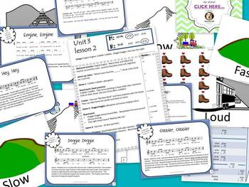 Unit 3- lesson 2 Kodaly Cookbook {sol mi prep}{beat prac} Elementary Music