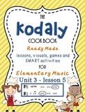 Unit 3- lesson 5 Kodaly Cookbook {sol mi prac}{ ta ti-ti p