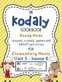 Unit 3- lesson 6 Kodaly Cookbook {sol mi prac}{ ta ti-ti p