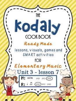 Unit 3- lesson 7 Kodaly Cookbook {sol mi prac}{ ta ti-ti prep} Elementary Music