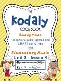 Unit 3- lesson 8 Kodaly Cookbook { ta ti-ti presentation}