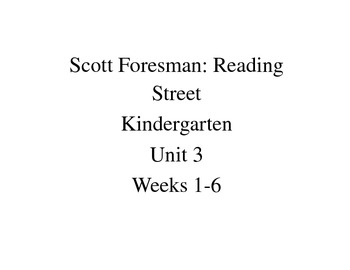 Unit 3 weeks 1-6 assessments