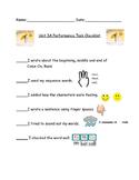Unit 3A Checklist performance task readygen k