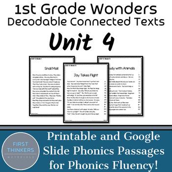 Unit 4 Wonders Phonics Passages | Phonics Practice | Phonics Intervention