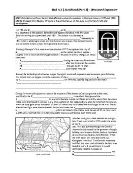 Unit 4.2 - Statehood (Part 2) - Westward Expansion (SS8H4, SS8E2)