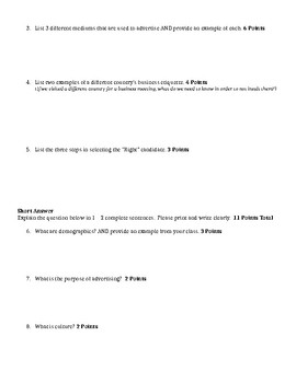 Unit 4 & 5 Test - Intro to Business Ch. 13 - 16