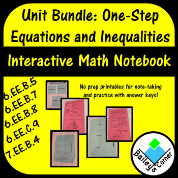 6th Grade One-Step Equations and Inequalities