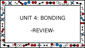 Unit 4 Bonding Wall Walk Review Game