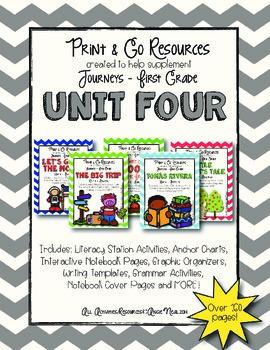 Unit 4 Bundle Journeys First Grade Print and Go