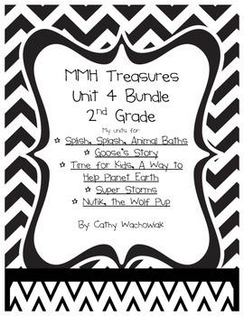 Unit 4 Bundle Treasures MMH 2nd Grade