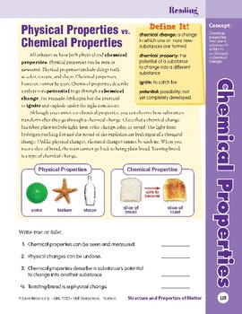 Unit 4: Chemical Properties: Concepts (Skill Sharpeners:Science)