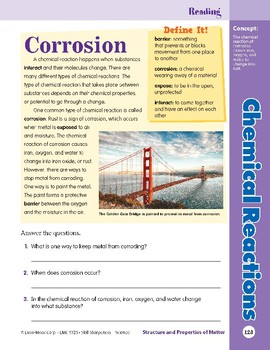 Unit 4: Chemical Reactions: Concepts (Skill Sharpeners:Science)