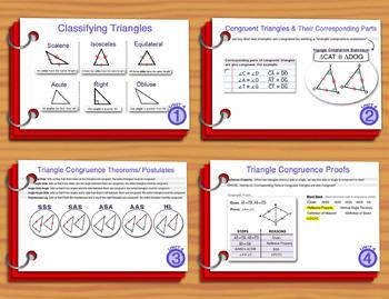 Unit 4– Congruent Triangles; Summary Sheets
