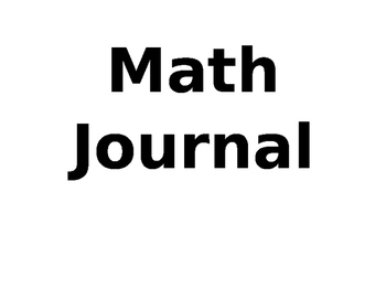 Unit 4 Differentiated Math Writing Prompts Journal-Third G