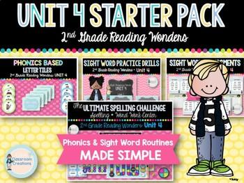 Unit 4 ELA Starter Pack 2nd Grade Wonders