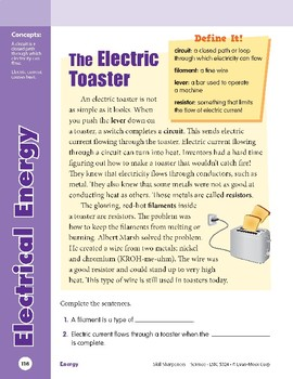 Unit 4: Electrical Energy: Concepts (Skill Sharpeners: Science)
